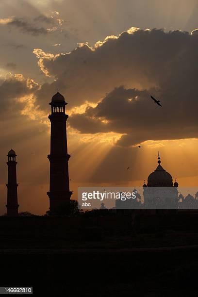 Badshahi mosque at sunset