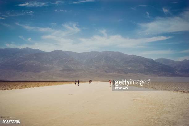 Badwater Basin in Death Valley, the lowest place in North America.