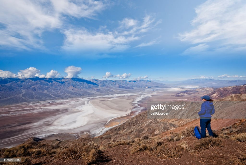 Hiker at Dante's View : Stock Photo