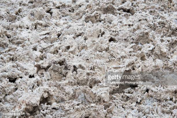 badwater basin salt formation close-up - highlywood stock photos and pictures