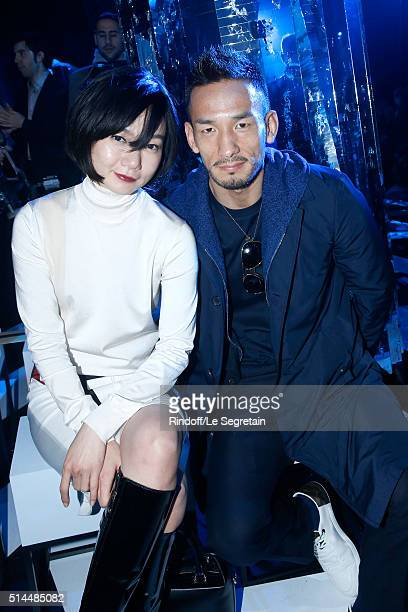 Bae Doona and Hidetoshi Nakata attend the Louis Vuitton show as part of the Paris Fashion Week Womenswear Fall/Winter 2016/2017 Held at Louis Vuitton...