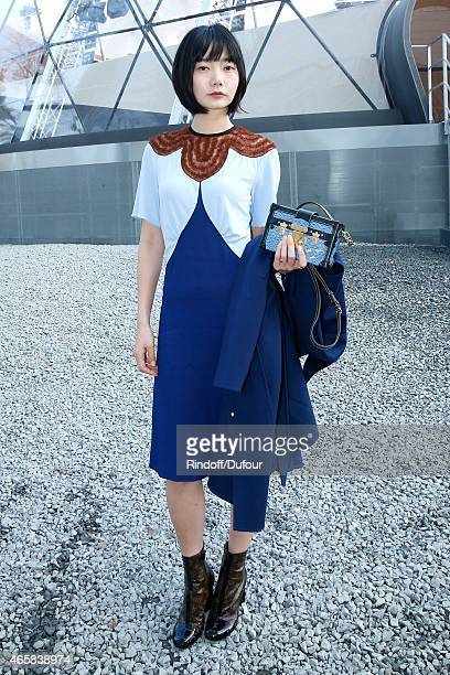 Bae Doona attends the Louis Vuitton show as part of the Paris Fashion Week Womenswear Fall/Winter 2015/2016 on March 11 2015 in Paris France