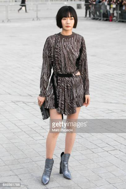 Bae Doona attends the Louis Vuitton show as part of the Paris Fashion Week Womenswear Fall/Winter 2017/2018 on March 7 2017 in Paris France
