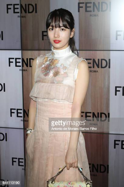 Bae Suzy attends the Fendi show during Milan Fashion Week Fall/Winter 2017/18 on February 23 2017 in Milan Italy