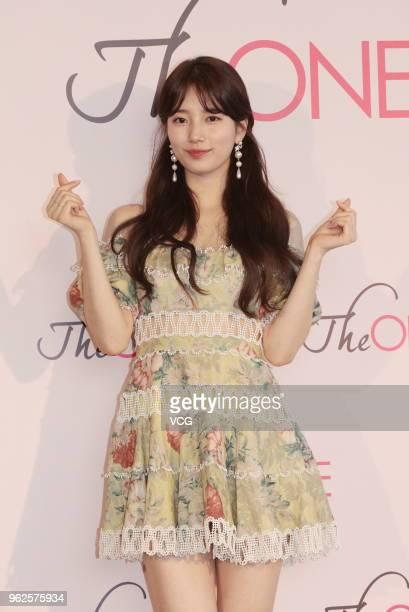 Bae Suzy of South Korean girl group Miss A meets fans on May 25 2018 in Hong Kong Hong Kong