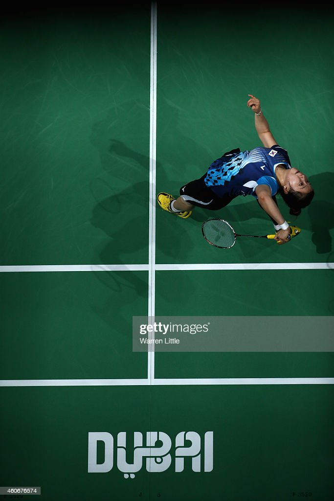 Bae Yeon Ju of Korea in action against Saina Newal of India during the  Women s Singles e9e97dbf9