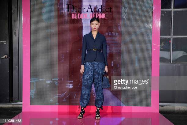 Bae Yoon Young attends Dior Addict Stellar Shine launch at Layers 57 on April 04 2019 in Seoul South Korea