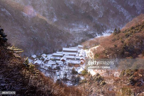 Baegyangsa Temple (Famous travel destination in Korea) in winter