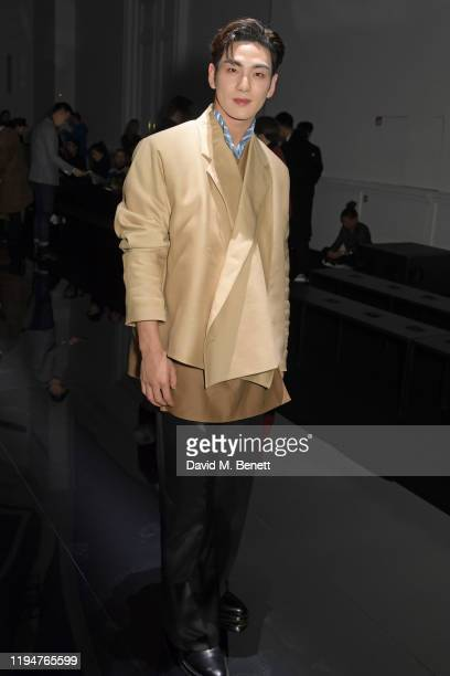 Baekho attends the Dunhill Menswear Fall/Winter 20202021 show as part of Paris Fashion Week on January 19 2020 in Paris France
