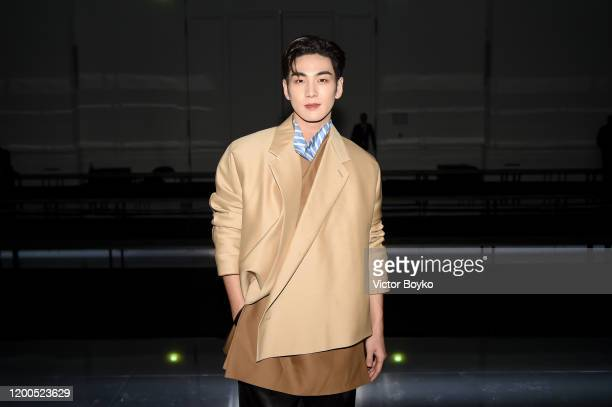 Baekho during the Dunhill Menswear Fall/Winter 20202021 show as part of Paris Fashion Week on January 19 2020 in Paris France