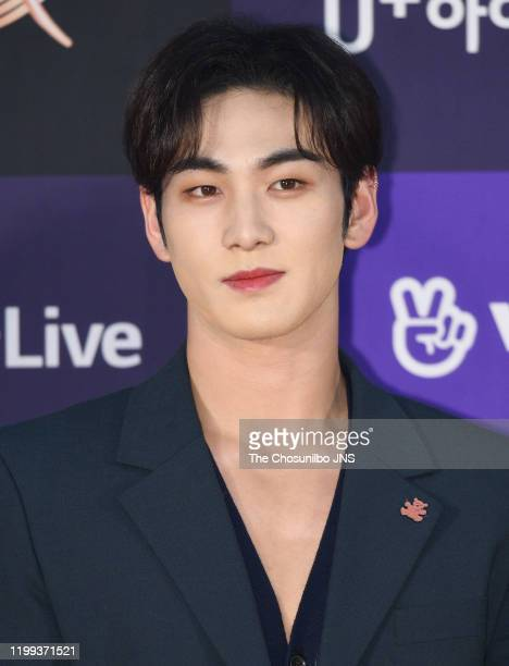 Baekho of NU'EST arrives at the photocall for the 34th Golden Disc Awards on January 05 2020 in Seoul South Korea