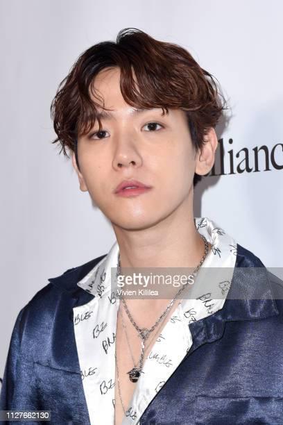 Baekhyun attends the Privé Alliance LA's Fashion Presentation with KPop Star Baekhyu at Academy LA on February 26 2019 in Los Angeles California