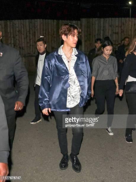 Baekhyun is seen on February 26 2019 in Los Angeles California