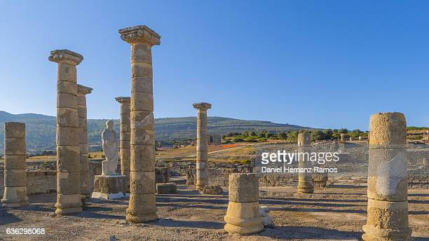 baelo claudia roman ruins at sunset - tarifa stock pictures, royalty-free photos & images