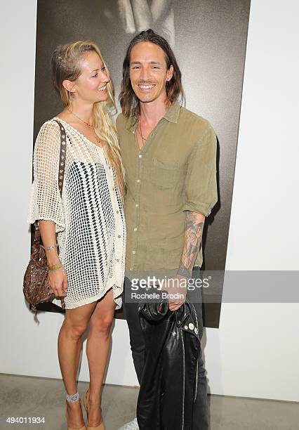 Baelyn Elspeth and Brandon Boyd attend 'Metallic Life' by Brian Bowen Smith brought to you by CASAMIGOS Tequila at De Re Gallery on October 22 2015...
