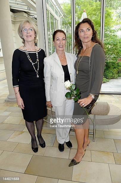 Baerbel Dieckmann Daniela Ziegler and Anna von Griesheim attend the Anna Von Griesheim Ladies Lunch at Hotel Brandenburgischer Hof on May 8 2012 in...