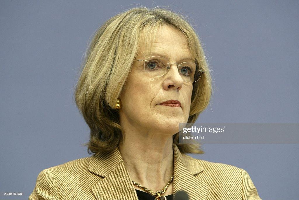 Baerbel Dieckmann - Politikerin, SPD, D - stellvertretende Vorsitzende der SPD : News Photo