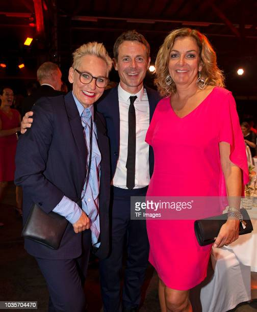 Baerbel Schaefer and Alexander Bommes and Bettina Tietjen attend the Deutscher Radiopreis at Schuppen 52 on September 6 2018 in Hamburg Germany