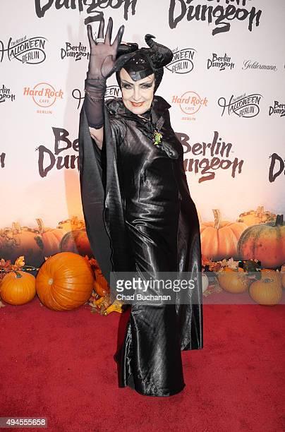 Baerbel Wierichs attends the Halloween party at Berlin Dungeon on October 27 2015 in Berlin Germany
