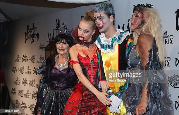 Baerbel Wierichs Cheyenne Ochsenknecht Jimi Blue Ochsenknecht and Natascha Ochsenknecht attend the Halloween party by Natascha Ochsenknecht at Berlin...