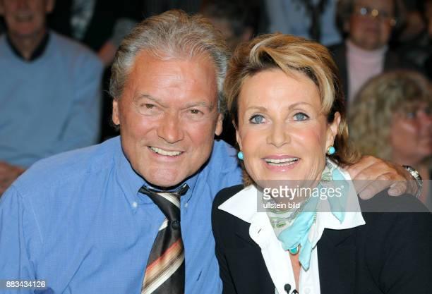 Baeumler HansJuergen former Figure Skater Presenter Singer Actor Germany with Wife Marina