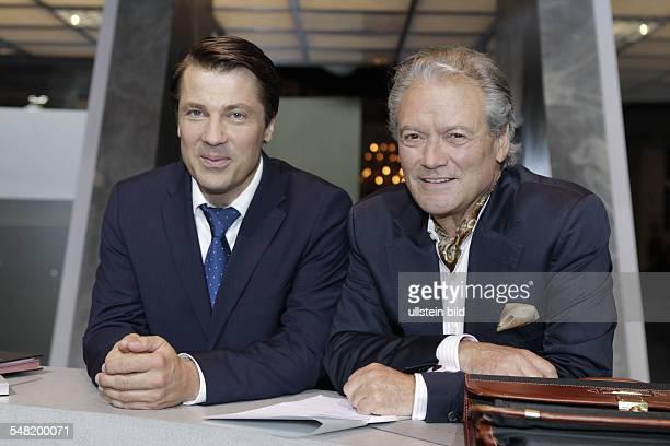 Baeumler HansJuergen Presenter Singer Actor Germany with Actor Wolfram Grandezka