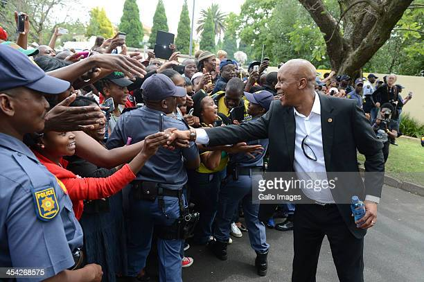 Bafana Bafana legend Doctor Khumalo greets fansThe thousands of tributes to Former President Nelson on December 7 2013 in Johannesburg South Africa...
