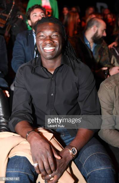Bafetimbi Gomis attends the St Nian show during Mercedes Benz Fashion Week Istanbul at Zorlu Performance Hall on March 28 2018 in Istanbul Turkey