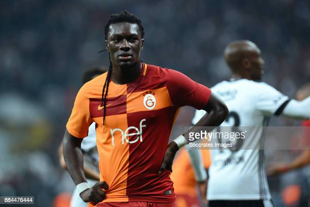 Bafetimbi Gomis of Galatasaray during the Turkish Super lig match between Besiktas v Galatasaray at the Vodafone Park on December 2 2017 in Istanbul...