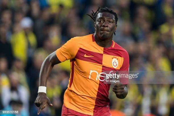 Bafetimbi Gomis of Galatasaray SK during the Turkish Spor Toto Super Lig match Fenerbahce AS and Galatasaray AS at the Sukru Saracoglu Stadium on...