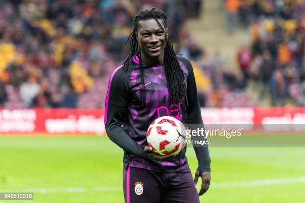 Bafetimbi Gomis of Galatasaray SK during the Ziraat Turkish Cup match Fenerbahce AS and Akhisar Belediyespor at the Sukru Saracoglu Stadium on April...