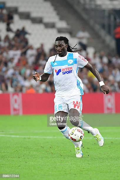 Bafetimbi Gomis of Marseille during the French Ligue 1 match between Marseille and Lorient at Stade Velodrome on August 26 2016 in Marseille France