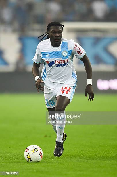 Bafetimbi Gomis of Marseille during the French Ligue 1 match between Marseille and Bordeaux at Stade Velodrome on October 30 2016 in Marseille France