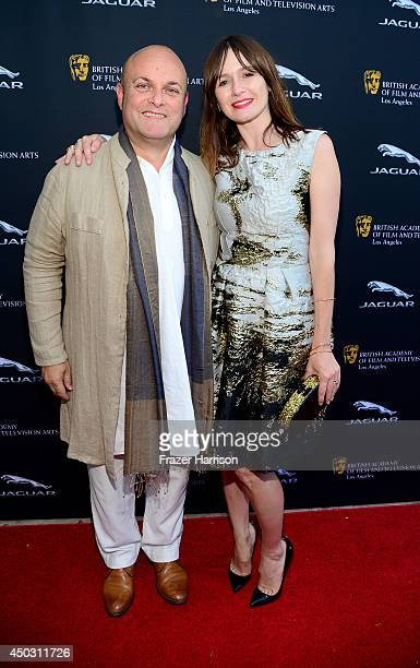 Nigel Daly and actress Emily Mortimer attend BFTA LA Garden Party at British Consul Generals Residence on June 8, 2014 in Los Angeles, California.