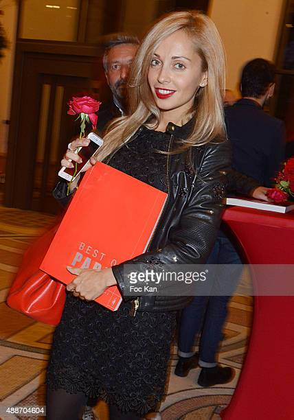 Bag designer Angelina Ober attend the 'The Best Of Paris Volume2' Shopping Guide Launch Cocktail' At Le Petit Palais on September 16 2015 in Paris...