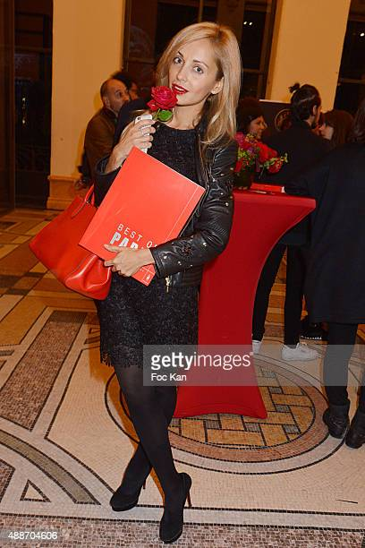 Bag designer Angelina Ober from Sasha Berry attends the 'The Best Of Paris Volume2' Shopping Guide Launch Cocktail' At Le Petit Palais on September...