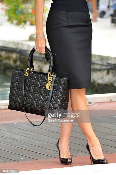 Bag detail as Nancy Brilli attends the 67th Venice Film Festival on September 5 2010 in Venice Italy