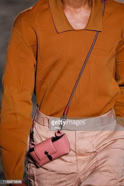 Bag detail at Ermenegildo Zegna fashion show at Aree Ex Falck during Milan Men's Fashion Week Spring/Summer 2020 on June 14, 2019 in Milano, Italy.