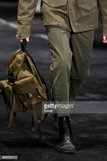 Bag detail at Neil Barrett show during Milan Men's Fashion Week Fall/Winter 2018/19 on January 13 2018 in Milan Italy