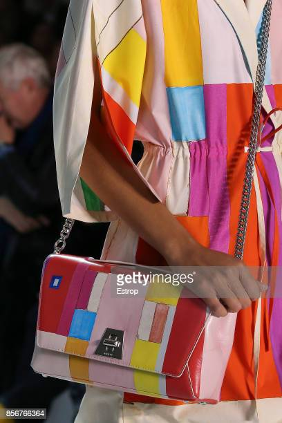 Bag Detail at the Akris show as part of the Paris Fashion Week Womenswear Spring/Summer 2018 on October 1 2017 in Paris France