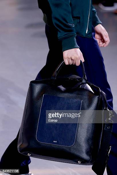 A bag detail at the Ami Alexandre Mattiussi Menswear Spring/Summer 2017 show as part of Paris Fashion Week on June 25 2016 in Paris France