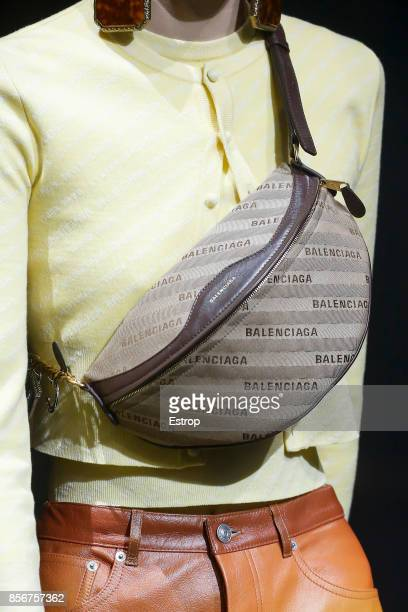 Bag Detail at the Balenciaga show as part of the Paris Fashion Week Womenswear Spring/Summer 2018 on October 1 2017 in Paris France