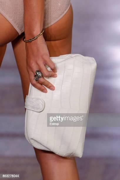 Bag Detail at the Bottega Veneta show during Milan Fashion Week Spring/Summer 2018 on September 23 2017 in Milan Italy