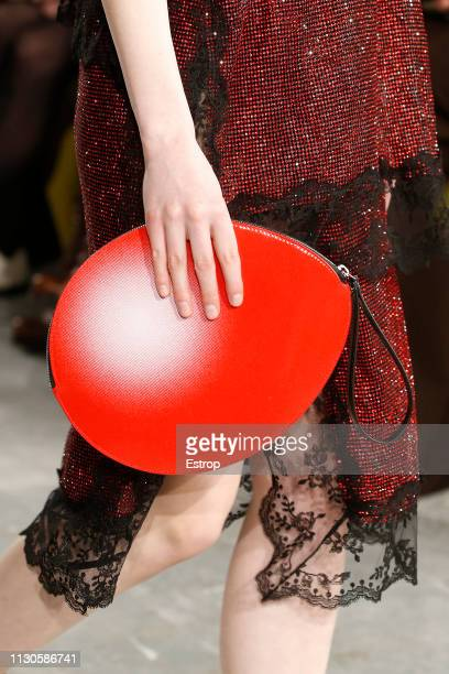 Bag detail at the Christopher Kane show during London Fashion Week February 2019 on February 18 2019 in London England