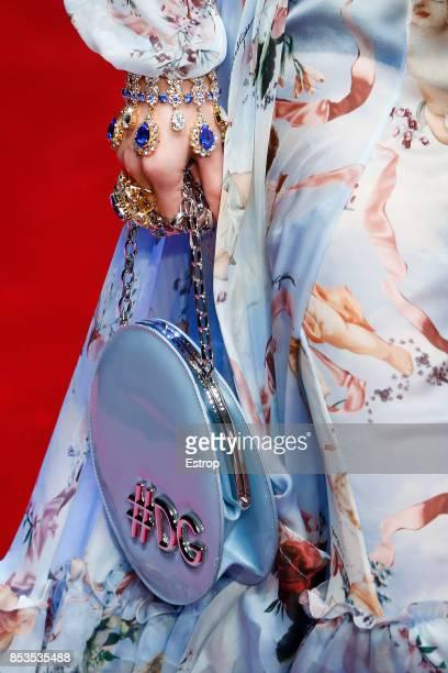 Bag Detail at the Dolce Gabbana show during Milan Fashion Week Spring/Summer 2018 on September 24 2017 in Milan Italy