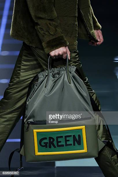 Bag detail at the Fendi show during Milan Men's Fashion Week Fall/Winter 2017/18 on January 16, 2017 in Milan, Italy.