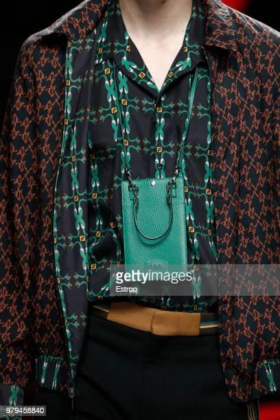 Bag detail at the Fendi show during Milan Men's Fashion Week Spring/Summer 2019 on June 18 2018 in Milan Italy