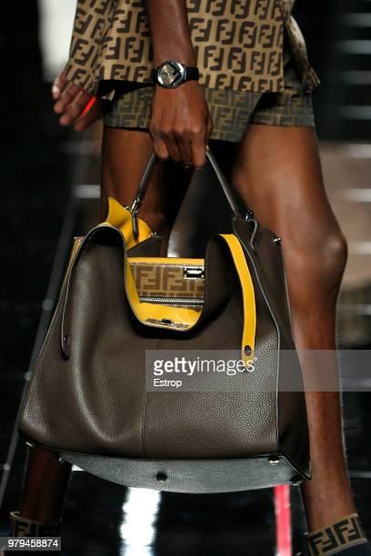 8c04d4bb7e51 Bag detail at the Fendi show during Milan Men s Fashion Week Spring Summer  2019 on