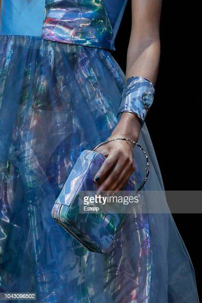 Bag detail at the Giorgio Armani show during Milan Fashion Week Spring/Summer 2019 on September 23 2018 in Milan Italy