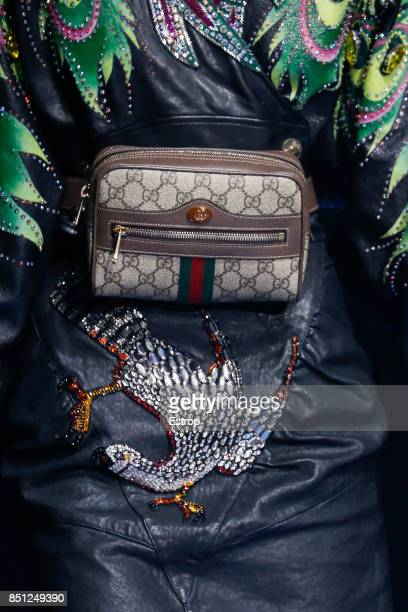 Bag Detail at the Gucci show during Milan Fashion Week Spring/Summer 2018 on September 20 2017 in Milan Italy